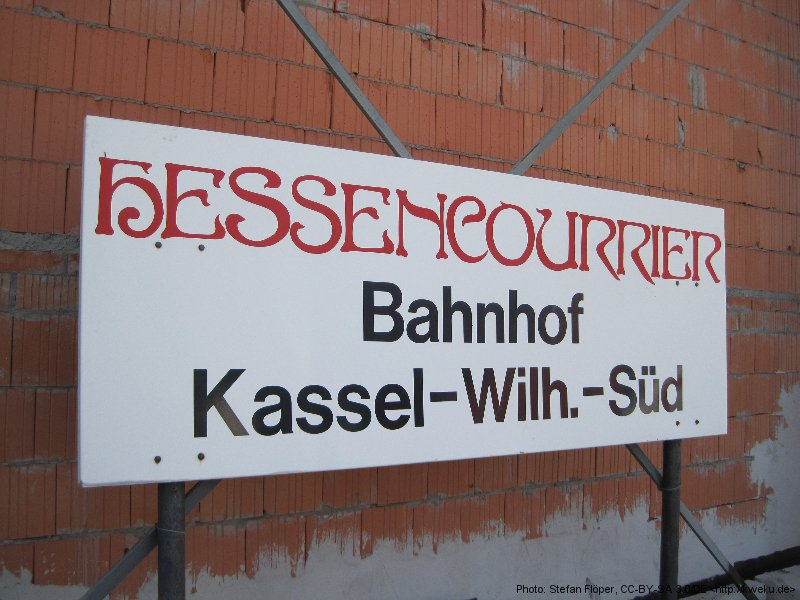 Hessencourrier Start in Kassel-Wilhelmshöhe Süd